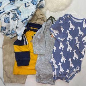 🎉Bundle baby boy bodysuits top pants B7-26